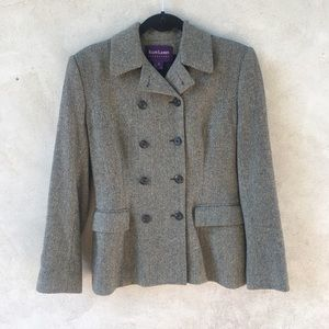 Ralph Lauren Herringbone 100% Wool Peacoat